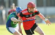 9 August 2020; Conor Hanley of Tommy Larkins in action against Paul Killeen of Tynagh Abbey Duniry during the Galway County Senior Hurling Championship Group 1 match between Tommy Larkins and Tynagh Abbey Duniry at Duggan Park in Ballinasloe, Galway. Photo by Ramsey Cardy/Sportsfile