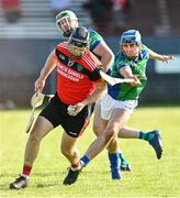 9 August 2020; Kevin Hooban of Tommy Larkins in action against Niall Moloney of Tynagh Abbey Duniry during the Galway County Senior Hurling Championship Group 1 match between Tommy Larkins and Tynagh Abbey Duniry at Duggan Park in Ballinasloe, Galway. Photo by Ramsey Cardy/Sportsfile