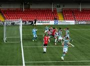 9 August 2020; Roberto Lopes of Shamrock Rovers score his side's second goal during the SSE Airtricity League Premier Division match between Derry City and Shamrock Rovers at Ryan McBride Brandywell Stadium in Derry. Photo by Stephen McCarthy/Sportsfile