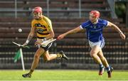 9 August 2020; Maurice Shanahan of Lismore in action against Darragh Lyons of Dungarvan during the Waterford County Senior Hurling Championship Group D match between Dungarvan and Lismore at Fraher Field in Dungarvan, Waterford. Photo by Eóin Noonan/Sportsfile