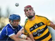 9 August 2020; Maurice Shanahan of Lismore in action against Kealan Daly of Dungarvan during the Waterford County Senior Hurling Championship Group D match between Dungarvan and Lismore at Fraher Field in Dungarvan, Waterford. Photo by Eóin Noonan/Sportsfile