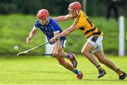 9 August 2020; Darragh Lyons of Dungarvan in action against Jack Prendergast of Lismore during the Waterford County Senior Hurling Championship Group D match between Dungarvan and Lismore at Fraher Field in Dungarvan, Waterford. Photo by Eóin Noonan/Sportsfile