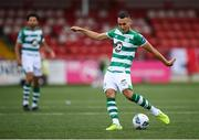 9 August 2020; Graham Burke of Shamrock Rovers during the SSE Airtricity League Premier Division match between Derry City and Shamrock Rovers at Ryan McBride Brandywell Stadium in Derry. Photo by Stephen McCarthy/Sportsfile