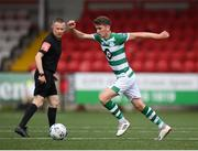 9 August 2020; Dylan Watts of Shamrock Rovers during the SSE Airtricity League Premier Division match between Derry City and Shamrock Rovers at Ryan McBride Brandywell Stadium in Derry. Photo by Stephen McCarthy/Sportsfile