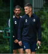 10 August 2020; Jonathan Sexton, right, and Rob Kearney during Leinster Rugby squad training at UCD in Dublin. Photo by Ramsey Cardy/Sportsfile