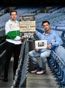 12 August 2020; The GAA Museum Remembers Bloody Sunday tragedy: Tipperary footballer Bill Maher, left, and Dublin footballer Michael Darragh MacAuley remember the 14 victims who lost their lives in the Bloody Sunday tragedy 100 years on at the launch of the GAA Museum's Bloody Sunday centenary events series at Croke Park. For a full list of events over the coming months visit www.crokepark.ie/bloodysunday. Photo by Brendan Moran/Sportsfile