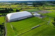 9 August 2020; A general view of the pitches, including the new Air Dome at the Connacht GAA Centre in Bekan, Mayo. It is the world's largest Air Dome at 150 metres long by 100 metres wide and 26 metres high and can accommodate a full size GAA pitch. The structure also includes a full-sized pitch, a running track and a gym. Photo by Brendan Moran/Sportsfile