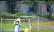 10 August 2020; Supporters watch on from outside Finn Park during the Extra.ie FAI Cup First Round match between Finn Harps and St. Patrick's Athletic at Finn Park in Ballybofey, Donegal. Photo by Stephen McCarthy/Sportsfile