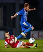 10 August 2020; Ryan Connolly of Finn Harps in action against Jamie Lennon of St Patrick's Athletic during the Extra.ie FAI Cup First Round match between Finn Harps and St. Patrick's Athletic at Finn Park in Ballybofey, Donegal. Photo by Stephen McCarthy/Sportsfile