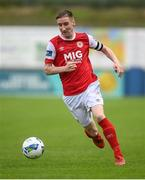 10 August 2020; Ian Bermingham of St Patrick's Athletic during the Extra.ie FAI Cup First Round match between Finn Harps and St. Patrick's Athletic at Finn Park in Ballybofey, Donegal. Photo by Stephen McCarthy/Sportsfile