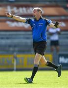 9 August 2020; Referee Justin Heffernan during the Wexford County Senior Hurling Championship Quarter-Final match between Faythe Harriers and Shelmaliers at Chadwicks Wexford Park in Wexford. Photo by Harry Murphy/Sportsfile