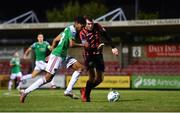 11 August 2020; Ricardo Dinanga of Cork City in action against Joe Gorman of Longford Town during the Extra.ie FAI Cup First Round match between Cork City and Longford Town at Turners Cross in Cork. Photo by Eóin Noonan/Sportsfile