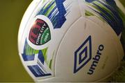 11 August 2020; A detailed view of a branded Cork City Umbro Neo X Elite football during the Extra.ie FAI Cup First Round match between Cork City and Longford Town at Turners Cross in Cork. Photo by Eóin Noonan/Sportsfile