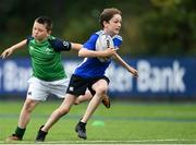 13 August 2020; Daniel Kavanagh is tackled by Aidan Martin during the Bank of Ireland Leinster Rugby Summer Camp at Clontarf RFC in Dublin. Photo by Eóin Noonan/Sportsfile