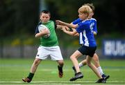 13 August 2020; Aidan Martin and Oisin Flemming during the Bank of Ireland Leinster Rugby Summer Camp at Clontarf RFC in Dublin. Photo by Eóin Noonan/Sportsfile