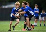 13 August 2020; Oisin Flemming in action against Luke Straton during the Bank of Ireland Leinster Rugby Summer Camp at Clontarf RFC in Dublin. Photo by Eóin Noonan/Sportsfile