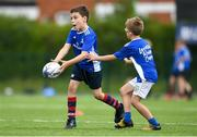 13 August 2020; Ethan O'Beirne in action against Sam Kennedy during the Bank of Ireland Leinster Rugby Summer Camp at Clontarf RFC in Dublin. Photo by Eóin Noonan/Sportsfile