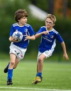 13 August 2020; Lachan Traynor in action against Sam Kennedy during the Bank of Ireland Leinster Rugby Summer Camp at Clontarf RFC in Dublin. Photo by Eóin Noonan/Sportsfile