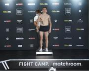 13 August 2020; Eric Donovan weighs in at Matchroom Fight Camp in Brentwood, Essex, England, ahead of his IBF Inter-Continental Super Feather Title clash with Zelfa Barrett on Friday Night. Photo by Mark Robinson / Matchroom Boxing via Sportsfile