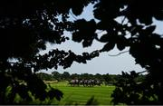 13 August 2020; Runners and riders during the Irish Stallion Farms EBF handicap race at Leopardstown in Dublin. Photo by David Fitzgerald/Sportsfile