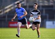 14 August 2020; Shealan Johnston of Kilcoo in action against Shane O'Hare of Mayobridge during the Down County Senior Club Football Championship Round 1 match between Kilcoo and Mayobridge at Páirc Esler in Newry, Down. Photo by Piaras Ó Mídheach/Sportsfile