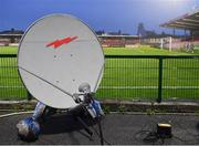 14 August 2020; A view of telecommunications equipment during the SSE Airtricity League Premier Division match between Cork City and Sligo Rovers at Turners Cross in Cork. Photo by Seb Daly/Sportsfile