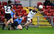14 August 2020; Conor Laverty of Kilcoo about to gather possession during the Down County Senior Club Football Championship Round 1 match between Kilcoo and Mayobridge at Páirc Esler in Newry, Down. Photo by Piaras Ó Mídheach/Sportsfile