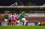 14 August 2020; Kit Elliot of Cork City shoots to score his side's second goal from the penalty spot during the SSE Airtricity League Premier Division match between Cork City and Sligo Rovers at Turners Cross in Cork. Photo by Seb Daly/Sportsfile