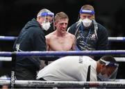 14 August 2020; Eric Donovan after the bout was stopped in the 8th round in the IBF Inter-Continental Super Feather Title bout against Zelfa Barrett at the Matchroom Fight Camp in Brentwood, England. Photo by Mark Robinson / Matchroom Boxing via Sportsfile
