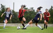 15 August 2020; Abbie Brophy of Bohemians evades the challenge of Keara Cormican of Galway WFC during the Women's National League match between Bohemians and Galway WFC at Oscar Traynor Centre in Dublin. Photo by Sam Barnes/Sportsfile