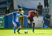 15 August 2020; Danny Mandroiu of Bohemians in action against Stephen Folan of Finn Harps during the SSE Airtricity League Premier Division match between Finn Harps and Bohemians at Finn Park in Ballybofey, Donegal. Photo by Seb Daly/Sportsfile