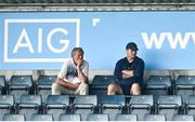 15 August 2020; Dublin manager Dessie Farrell, right, and selector Shane O'Hanlon during the Dublin County Senior 1 Football Championship Group 1 Round 3 match between Ballymun Kickhams and Thomas Davis at Parnell Park in Dublin. Photo by Ramsey Cardy/Sportsfile