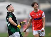 15 August 2020; Stephen Cluxton of Parnells looks on after kicking a first half point from play, alongside Michael Fitzsimons of Cuala, during the Dublin County Senior 2 Football Championship Group 2 Round 3 match between Cuala and Parnells at Hyde Park in Glenageary, Dublin. Photo by Piaras Ó Mídheach/Sportsfile
