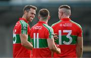 15 August 2020; Ballymun Kickhams, from left, Dean Rock, David Byrne and Paddy Small following the Dublin County Senior 1 Football Championship Group 1 Round 3 match between Ballymun Kickhams and Thomas Davis at Parnell Park in Dublin. Photo by Ramsey Cardy/Sportsfile