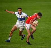 15 August 2020; Shane Walsh of Clontarf in action against Shane Carthy of St Vincent's during the Dublin County Senior 1 Football Championship Group 3 Round 3 match between Clontarf and St. Vincent's at Parnell Park in Dublin. Photo by Ramsey Cardy/Sportsfile