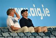 15 August 2020; Dublin manager Dessie Farrell, right, and selector Shane O'Hanlon during the Dublin County Senior 1 Football Championship Group 3 Round 3 match between Clontarf and St. Vincent's at Parnell Park in Dublin. Photo by Ramsey Cardy/Sportsfile