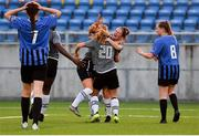 15 August 2020; Aisling Frawley of Wexford Youths celebrates with team-mates Edel Kennedy, left, and Ellen Molloy after scoring her side's first goal during the Women's National League match between Athlone Town and Wexford Youths at Athlone Town Stadium in Athlone, Westmeath. Photo by Eóin Noonan/Sportsfile