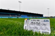 16 August 2020; A general view of a players ticket showing the original venue ahead of the Dublin County Senior Football Championship Round 3 match between Kilmacud Crokes and Castleknock at Parnell Park in Dublin. Photo by Sam Barnes/Sportsfile