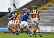 16 August 2020; John Lacey of Glynn-Barntown in action against Eoin Doyle of Shelmaliers during the Wexford County Senior Hurling Championship Semi-Final match between Glynn-Barntown and Shelmaliers at Chadwicks Wexford Park in Wexford. Photo by Eóin Noonan/Sportsfile