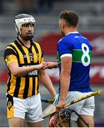16 August 2020; Andre O'Brien of Shelmaliers with John Lacey of Glynn-Barntown following the Wexford County Senior Hurling Championship Semi-Final match between Glynn-Barntown and Shelmaliers at Chadwicks Wexford Park in Wexford. Photo by Eóin Noonan/Sportsfile