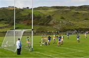 16 August 2020; Patrick McBrearty of Kilcar shoots to score his side's second goal during the Donegal County Senior Football Championship Round 1 match between Kilcar and Glenswilly at Towney Park in Kilcar, Donegal. Photo by Seb Daly/Sportsfile