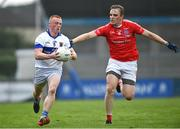 15 August 2020; Sean Lambe of St Vincent's in action against Morgan Walsh of Clontarf during the Dublin County Senior 1 Football Championship Group 3 Round 3 match between Clontarf and St. Vincent's at Parnell Park in Dublin. Photo by Ramsey Cardy/Sportsfile