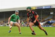 16 August 2020; Shaun Murphy of Oulart The Ballagh in action against Jack Doran of Naomh Eanna during the Wexford County Senior Hurling Championship Semi-Final match between Oulart-The Ballagh and Naomh Éanna at Chadwicks Wexford Park in Wexford. Photo by Eóin Noonan/Sportsfile