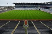 16 August 2020; An empty Croke Park Stadium on the original scheduled date of the 2020 GAA Hurling All-Ireland Senior Championship Final. Due to current restrictions laid down by the Irish government to prevent the spread of coronavirus, the dates for the staging of the GAA inter-county season have been pushed back, with the first round of games now due to start in October. The 2020 All-Ireland Senior Hurling Championship was due to be the 133rd staging of the All-Ireland Senior Hurling Championship, the Gaelic Athletic Association's premier inter-county hurling tournament, since its establishment in 1887. For the first time in 96 years the All-Ireland hurling final is now due to be played in December with the 2020 final due on Sunday, December 13th, the same weekend on which Dublin beat Galway in the 1924 final.   Photo by Brendan Moran/Sportsfile