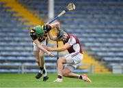 16 August 2020; Dan McCormack of Borris-Ileigh fends off Paul Shanahan of Upperchurch Drombane during the Tipperary County Senior Hurling Championship Group 4 Round 3 match between Borris-Ileigh and Upperchurch-Drombane at Semple Stadium in Thurles, Tipperary. Photo by Piaras Ó Mídheach/Sportsfile