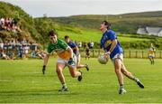 16 August 2020; Conor Doherty of Kilcar in action against Shaun Gallagher of Glenswilly during the Donegal County Senior Football Championship Round 1 match between Kilcar and Glenswilly at Towney Park in Kilcar, Donegal. Photo by Seb Daly/Sportsfile