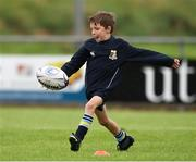 19 August 2020; Conor Lyons, age 6, in action during the Bank of Ireland Leinster Rugby Summer Camp at Navan in Meath. Photo by Matt Browne/Sportsfile