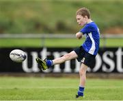 19 August 2020; Connor Greenan, age 8, in action during the Bank of Ireland Leinster Rugby Summer Camp at Navan in Meath. Photo by Matt Browne/Sportsfile