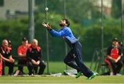 20 August 2020; Simi Singh of Leinster Lightning catches out Jonathan Garth of Munster Reds during the 2020 Test Triangle Inter-Provincial Series match between Leinster Lightning and Munster Reds at Pembroke Cricket Club in Dublin. Photo by Seb Daly/Sportsfile
