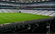 16 August 2020; An empty Croke Park Stadium on the original scheduled date of the 2020 GAA Hurling All-Ireland Senior Championship Final. Due to current restrictions laid down by the Irish government to prevent the spread of coronavirus, the dates for the staging of the GAA inter-county season have been pushed back, with the first round of games now due to start in October. The 2020 All-Ireland Senior Hurling Championship was due to be the 133rd staging of the All-Ireland Senior Hurling Championship, the Gaelic Athletic Association's premier inter-county hurling tournament, since its establishment in 1887. For the first time in 96 years the All-Ireland hurling final is now due to be played in December with the 2020 final due on Sunday, December 13th, the same weekend on which Dublin beat Galway in the 1924 final.   Photo by Ray McManus/Sportsfile